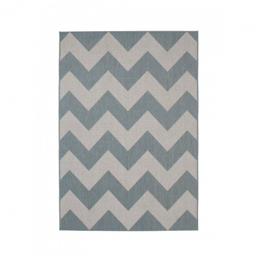 Cult Living Cottage Zig Zag Synthetic Floor Rug, Blue