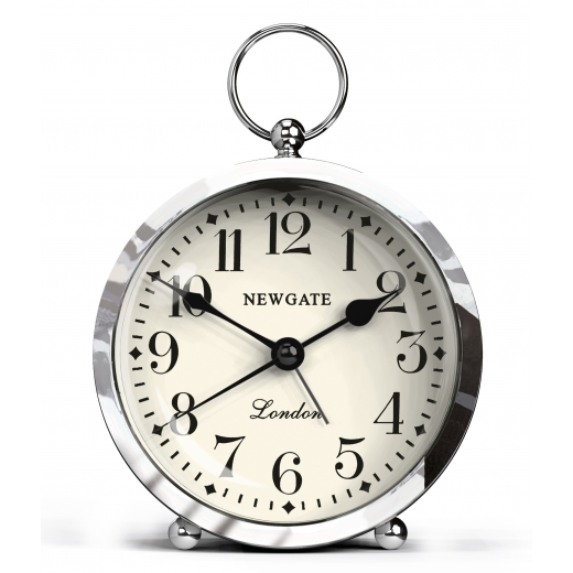 Newgate The Gents Mini Alarm Clock - Chrome