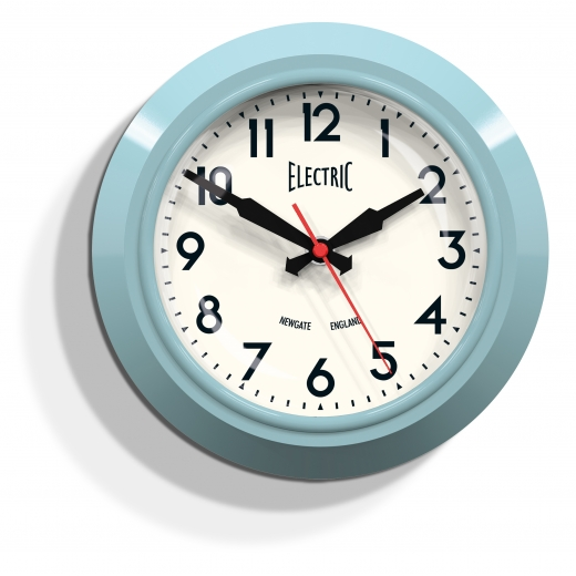 "Newgate The Small ""Electric"" Wall Clock - Pastel Blue"