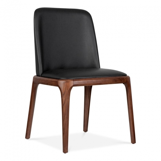 Cult Living Scarlet Dining Chair With PU Leather Seat - Black