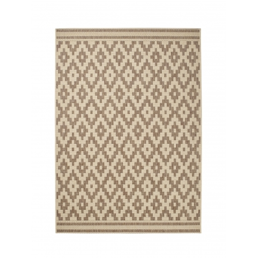Cult Living Cottage Diamond Synthetic Floor Rug, Natural