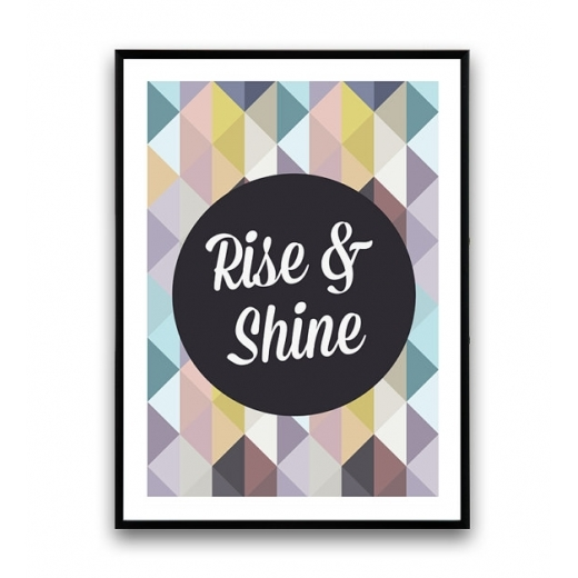 Cult Living Geometric Rise and Shine Framed Print - A2 or A3