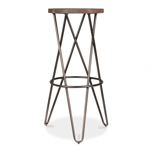 Cult Living Hairpin Stool with Crossed Leg - Rustic 75cm