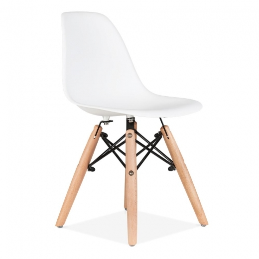 Iconic Designs Kids White DSW Chair