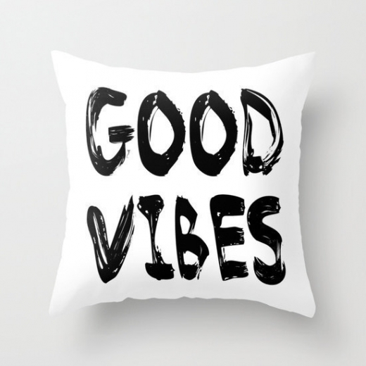 Cult Living Scandinavian Good Vibes Cushion - White