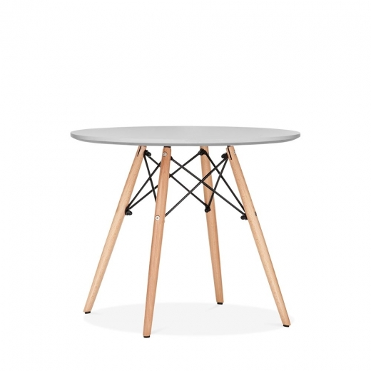 Eames DSW Light Grey Kids Round Table  DSW Dining Tables  Cult Furniture