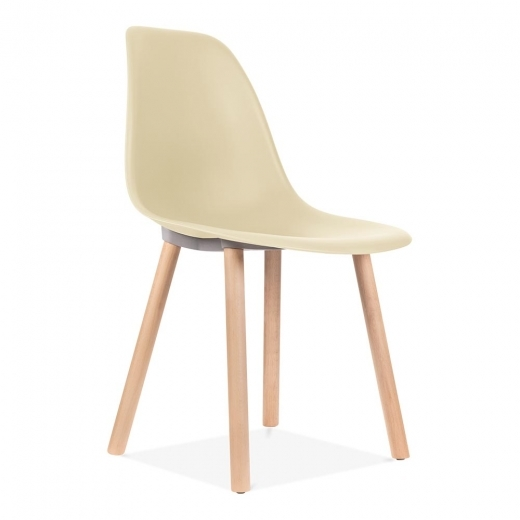 Eames Inspired Copenhagen Dining Chair - Cream