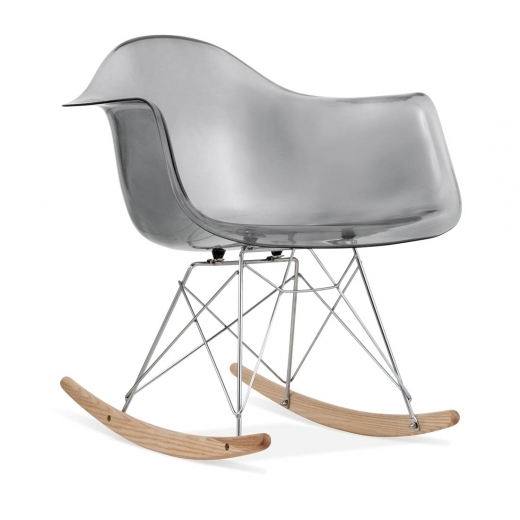 Iconic Designs Style RAR Rocker Chair - Black Transparent