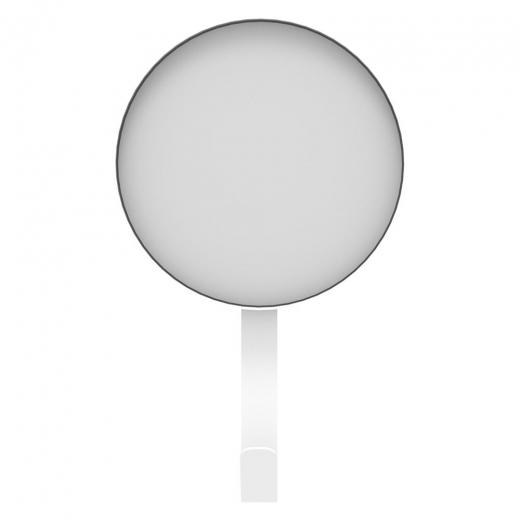 Universo Positivo Metal Wall Mirror with Hook, White