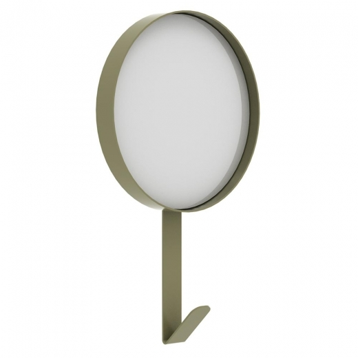 Universo Positivo Metal Wall Mirror with Hook - Olive