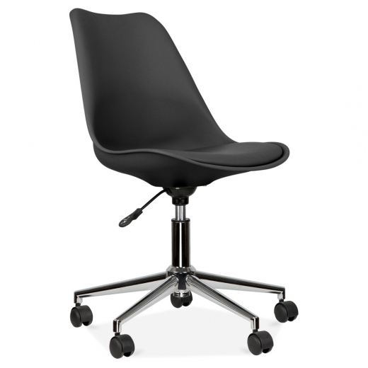 Eames Inspired Black Office Chair With Soft Pad Seat - Clearance Sale