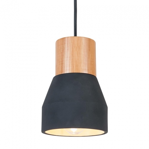 Cult Living Laval Concrete and Wood Light - Black