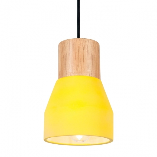 Cult Living Laval Concrete and Wood Light - Yellow