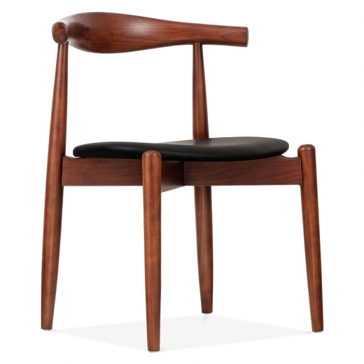 Danish Designs Brown Elbow Chair with Round Seat