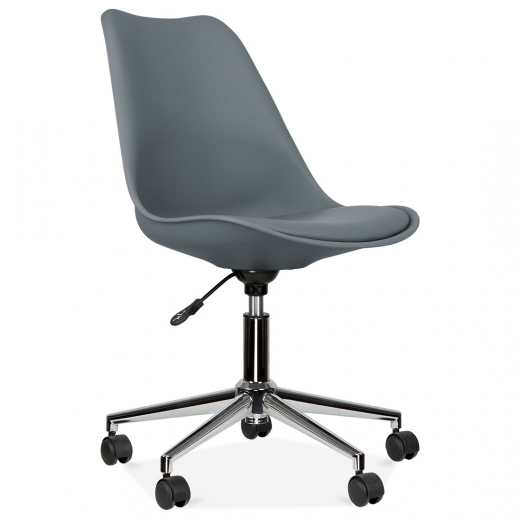 Eames Inspired Office Chair With Soft Pad Seat - Grey