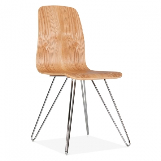 Cult Living Björn Dining Chair With Hairpin Legs - Natural