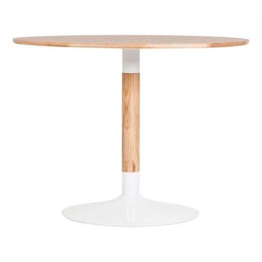 Cult Living Chic Round Dining Table, Solid Oak Wood, Natural 100cm
