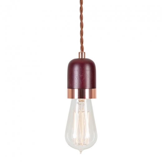 Cult Living Farrow Wooden Pendant Light - Brown / Copper 7cm