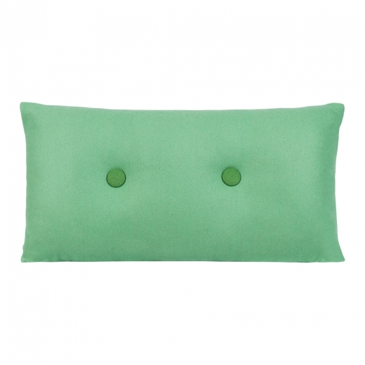 Cult Living Poet Cushion With Double Button - Peppermint with Dark Green Button