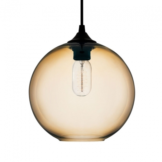 Edison Industrial Solitaire Modern Glass Pendant Light - Amber - Clearance Sale