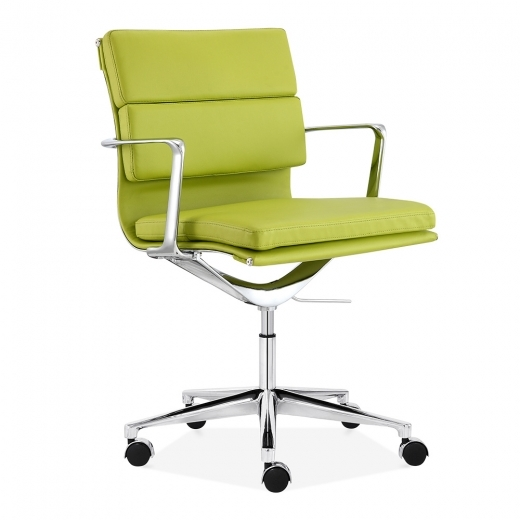 Cult Living Soft Pad Office Chair with Short Back – Apple Green