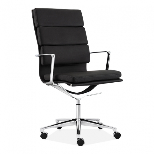Cult Living Soft Pad Office Chair with High Back – Black