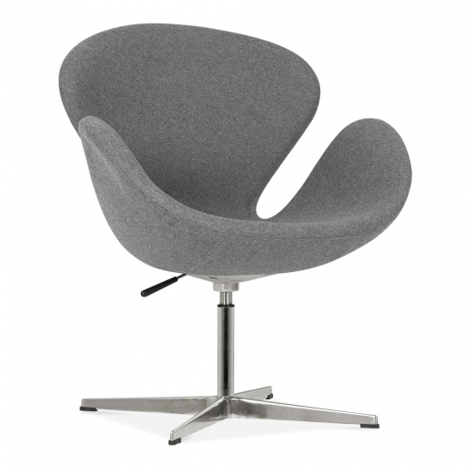 Cult Living Swan Lounge Chair With Aluminium Leg - Grey