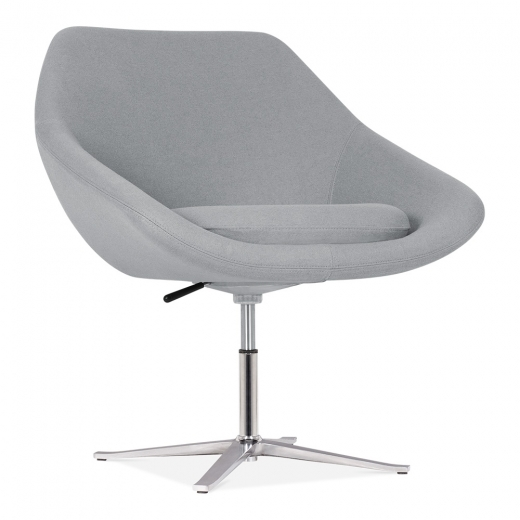 Cult Living Melody Lounge Chair With Aluminium Leg - Cool Grey