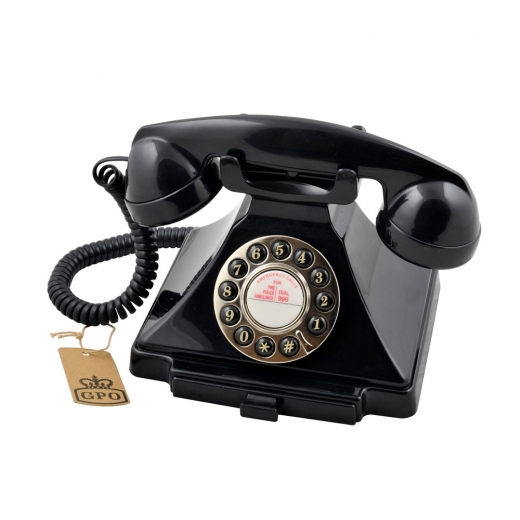 Wild & Wolf Carrington Classic Retro Telephone - Black