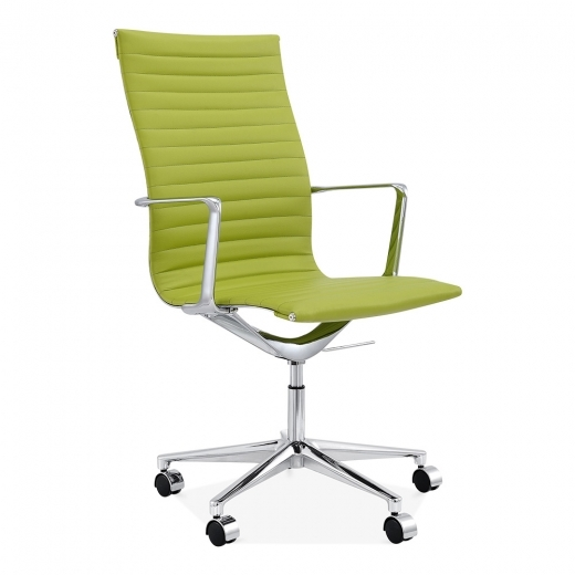 Cult Living Ribbed Office Chair with High Back - Apple Green