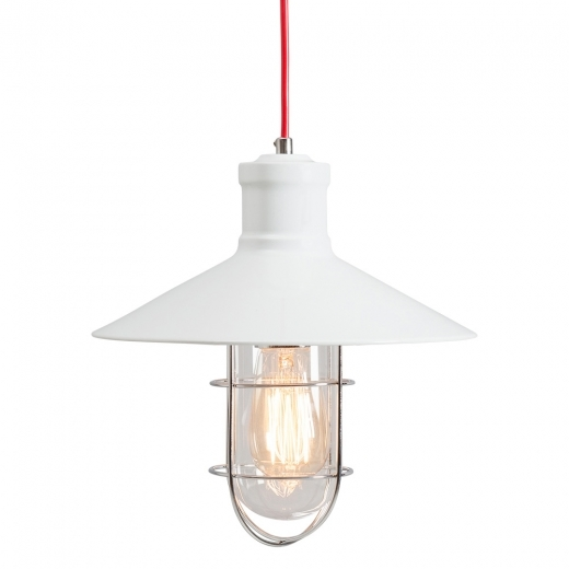 Edison Harbour Caged Pendant Light - White