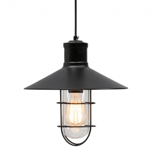 Edison Harbour Caged Pendant Light - Black