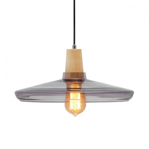 Cult Living Aalborg Round Pendant Light - Wood / Black