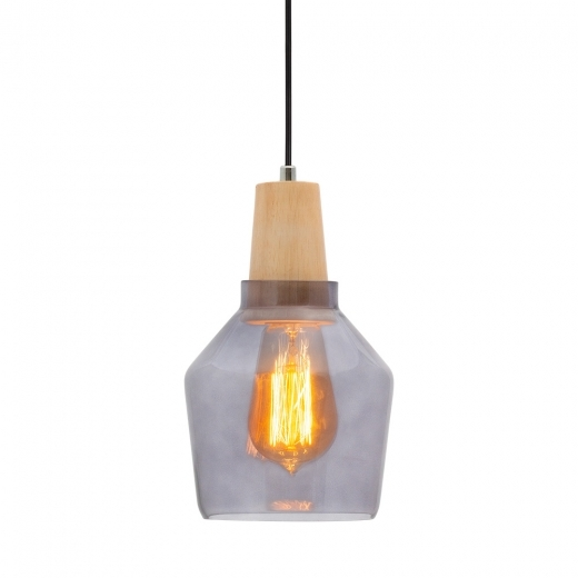 Cult Living Aalborg Bottle Pendant Light - Wood / Black