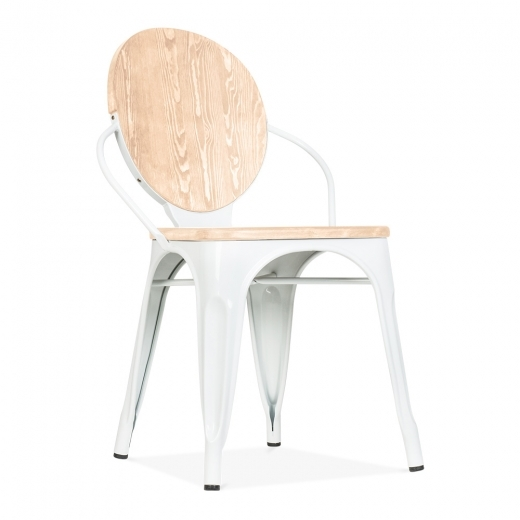 Cult Living Louis Dining Chair With Option Wood Seat - White - Clearance Sale