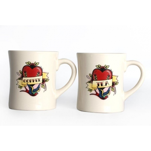 Temerity Jones Tattoo Mugs Tea & Coffee Set of 2