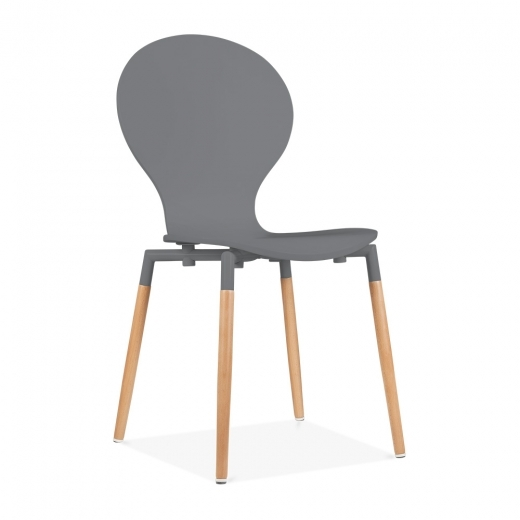Cult Living Novel Dining Chair With Plywood Seat - Grey