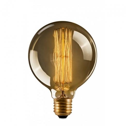G95 Medium Globe Dimmable 40w Squirrel Cage Filament Bulb E27