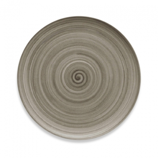 Cult Living Signature Flat Coupe Plate With Wood Effect - 20cm