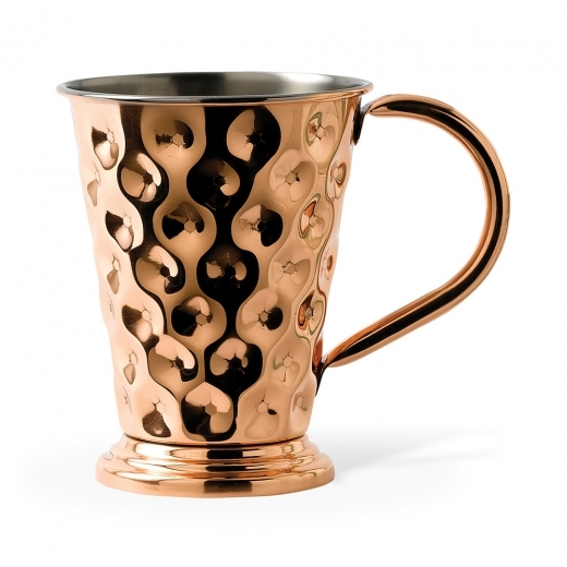 Cult Living Solid Copper Tapered Dented Mug 48CL