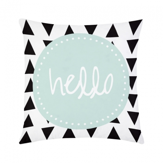 Cult Design Hello Geometric Cushion - White