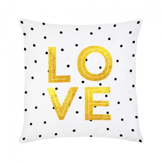 Cult Design Love Cushion - Gold & White