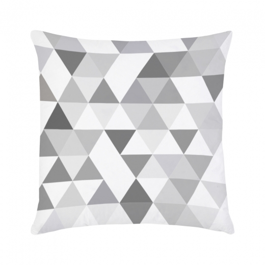 Cult Living Geometric Suedette Triangle Cushion - Grey