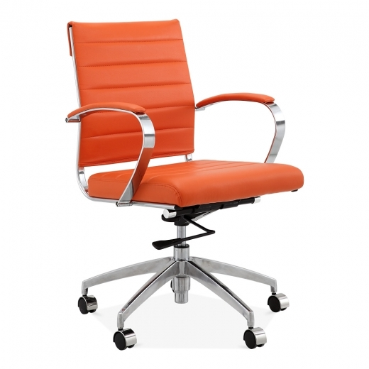 Cult Living Deluxe Office Chair with Short Backrest - Orange