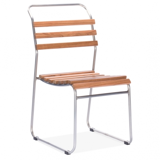 Cult Living Bauhaus Stackable Chair With Slatted Seat - Galvanised