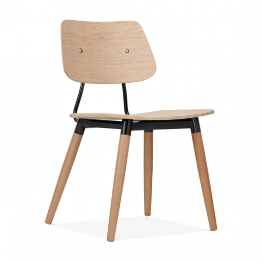 Cult Living Oslo Chair Natural Wood - Black
