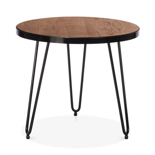 Cult Living Hairpin Round Side Table - Walnut 61cm