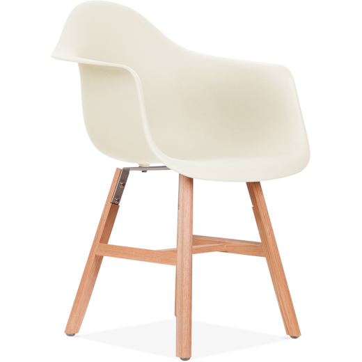 Eames Inspired DAW Side Chair With Windsor Style Legs – Off White