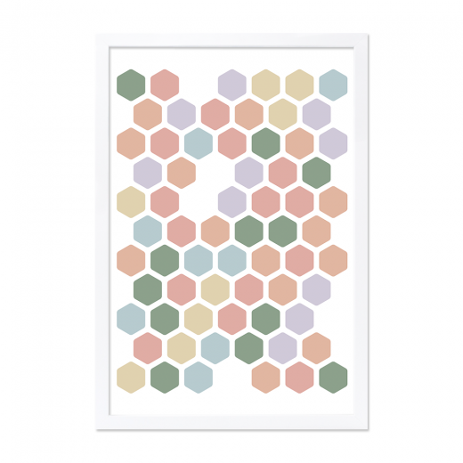 Cult Living Art Work - Multi-Coloured Honeycomb