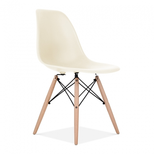 Iconic Designs Off White DSW Chair